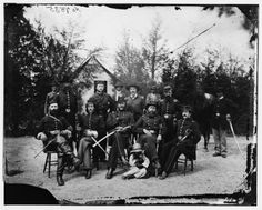 General William Gamble and Staff at Camp Stoneman, the Cavalry Depot at Giesborough Point - District of Columbia, May 1865