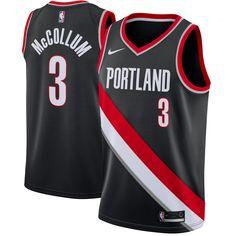 C.J. McCollum Portland Trail Blazers Nike Swingman Jersey Black - Icon  Edition d35bd0d85