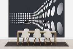Dining Room Design with Mural Decor. Awesome wall Murals Only for You at Wallpaper Mural Ideas - Bedroom Bathroom Living Room Kitchen Murals. 3d Wall Murals, Art Mural, Wall Design, House Design, Dining Room Design, Home Decor Trends, Home Decor Wall Art, Mural Ideas, Wallpaper Awesome