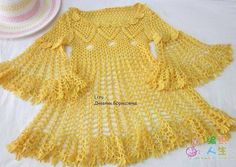 crochet lace dress and sweater for ladies, crochet pattern Crochet Lace Dress, Crochet Tunic, Crochet Clothes, Knit Dress, Crochet Top, Summer Patterns, Pullover, Baby Knitting, Lana