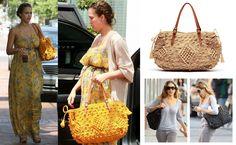 Gerald Darel crocheted raffia tote as seen on Jessica Alba and SJP