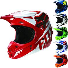 Fox Racing V1 Race Mens Dirt Bike Off Road Motocross Helmets