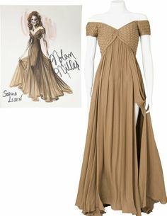 Nolan Miller Designed Gown for Sophia Loren. Thi