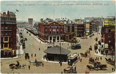 Haymarket Sq., The Boston City Hospital Relief Station and North Station, Boston, Mass. [front]