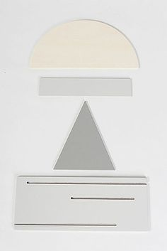 A stacking desk organizer that looks like a sunset behind a mountain: | 21 Minimalist Storage Solutions That Are Basically Works Of Art