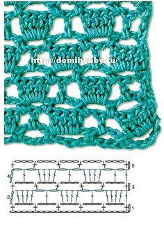 Para ti que te encanta el crochet, estas hermosas muestras van a inspirarte verdaderamente. Son puntos calados, y tienen la característica d. Knitting TechniquesCrochet For BeginnersCrochet PatronesCrochet Ideas Mode Crochet, Crochet Diy, Crochet Motifs, Freeform Crochet, Crochet Stitches Patterns, Crochet Diagram, Crochet Chart, Stitch Patterns, Knitting Patterns