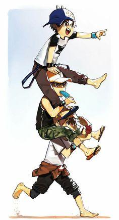 Art by: Ariieya Anime Galaxy, Boboiboy Galaxy, Boboiboy Anime, Anime Art, Elemental Powers, Character Poses, Life Pictures, 3d Animation, Disney Movies