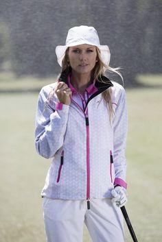 Daily Sports - Lookbook Ladies Golf, Ss16, Rain Jacket, Windbreaker, Sports, Clothes For Women, Lady, Womens Fashion, How To Wear