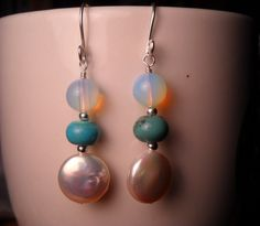 Turquoise & fresh water pearl