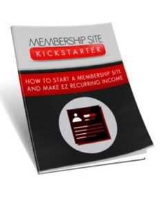 Membership Site Kickstarter  How You Can Easily Set Up A Membership Site To Earn MASSIVE Recurring Payments!  A membership website is very easy to get started easy to run and easy to promote aswell. Its a fantastic way of making a steady amount of profit very quickly.  Submitted: 11 Aug 2016 File Size: 11.2 MB License: Master Resell Rights  Check Membership Site Kickstarter at PLR5.COM