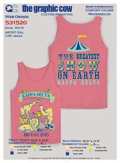 Love this tank design for a circus-themed bid day!