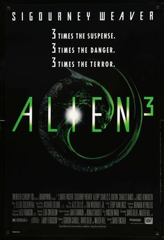 """Film: Alien 3 (1992) Year poster printed: 1992 Country: USA Size: 27""""x 40"""" This is an original, unfolded one-sheet poster from 1992 for Alien 3 starring Sigourney Weaver, Charles S. Dutton and Lance H"""