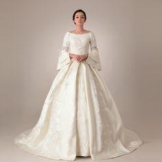 Off shoulder Princess Satin #weddingdress