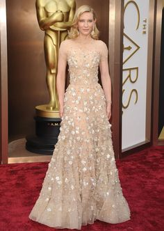 What Makes A Winning Oscar Dress? See What Every Best Actress Winner Wore - Cate Blanchett Wore An Embellished Dress By Armani Prive