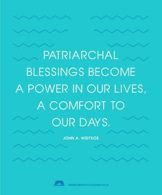 Patriarchal blessings are given through the inspiration of God.