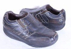 Skechers Shape-ups Men's Sz 11 66501 Slip-On Shoes Brown Leather Mocs #SKECHERS #LoafersSlipOns