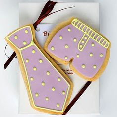 Love these tie biscuits for Father's Day