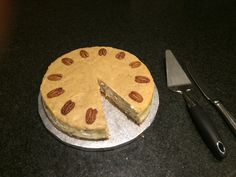 Maple and pecan cheesecake