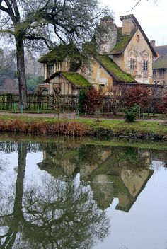 Versailles - Marie Antoinette's cottage - when the Petit Trianon became oh so tedious Marie Antoinette retreated to the fake English village she had constructed...
