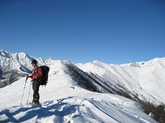 Snowshoeing until the top of the mountain. Oasi Zegna, #Italy www.oasizegna.com