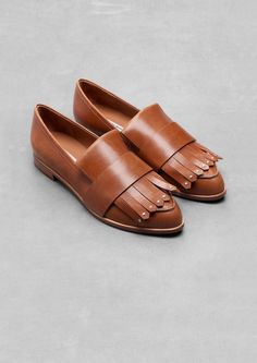& Other Stories // fringe loafers #style #fashion #shoes