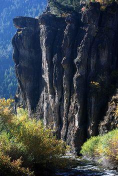 ~ Cliffs Overhang Logan River ~ Logan Canyon, Utah....by Bachspics....