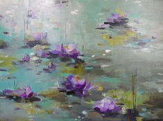 Lilypads, water lilies, original artwork, painting, minnesota, minneapolis