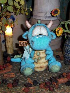 Primitive Halloween Goth Troll Monster Goblin Dragon Doll Patti's Ratties Bear