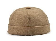 8ef299494eeddc JnM Unisex Fashion Miki Cap Cotton Skull Cap Beanie Hat Black Navy Sandy  Beige Short Watch