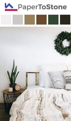 Bedroom color palette - black dark-grayish-cyan dark-lime-green dark-orange Bedroom Colour Palette, Bedroom Colors, House Color Schemes, House Colors, Living Room Remodel, Home Living Room, Interior Colors, Interior Design, Black Dark