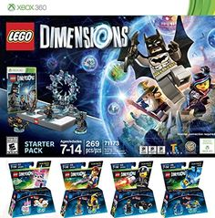 LEGO Dimensions Starter Pack for Xbox 360 PLUS LEGO Movie Bundle with Emmet 71212, Bad Cop 71213, Benny 71214, and UniKitty 71231 *** See this great product.