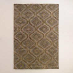 One of my favorite discoveries at WorldMarket.com: Blue and Gray Tonal Hooked Rug