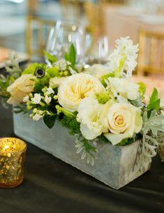 Concrete vase floral display. #flower #arrangement