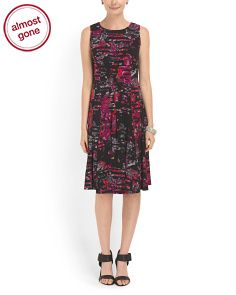 @TJMaxx Printed Knit Dress