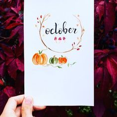 My cover page for #october • #bujo #fall #autumn #lettering #typo #cute #art #drawing #october #herbst #pumpkin #bujoinspiration #bulletjournal #bujolove #love #liebe #bujoinspire #photooftheday #quote #mushroom #nature #artsy #aquarell #watercolor #instaart #illustration #gloomy #halloween