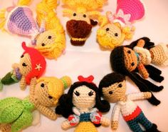 Disney doll patterns. Maria would love these if I ever get to take a crochet class and learn how.
