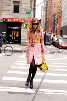 ALAIA BOOTIES  BURBERRY PRORSUM METALLIC TRENCH COAT  BURBERRY PRORSUM BAG  CELINE AUDREY SUNGLASSES  feb