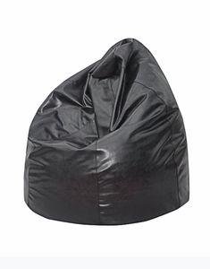 Red Barrel Studio The Pear Bean Bag Chair Upholstery: Black Leather Bean Bag Chair, Leather Chair With Ottoman, Bean Bag Sofa, Modern Bean Bags, Barber Chair For Sale, Mushroom Chair, Bean Bag Furniture, Brown Accent Chair, Office Waiting Room Chairs