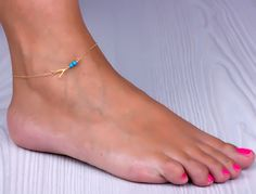 Ankle Bracelets For Women / Wishbone Ankle Bracelet | Sybaris