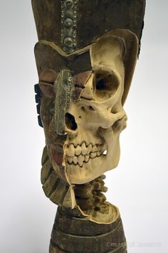 """Artist Maskull Lasserre Carves Imagined Skeletons into Souvenir Sculptures and Decoys which he then used as a foundation for his own artwork. In a process he refers to as """"re-carving,"""" Lasserre removed details from the artist's original work to reveal intricate skeletal structures, a process we've marveled at numerous times over the last few years"""