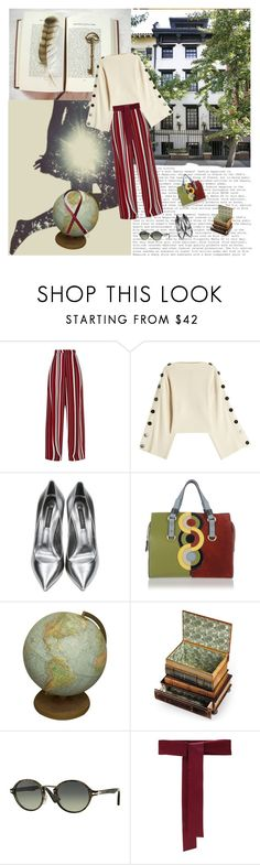 """""""The New Curiosity Shop"""" by br0k3n ❤ liked on Polyvore featuring PATH, Petar Petrov, Casadei, Dsquared2, Bunn, Persol, Sara Roka and Lands' End"""