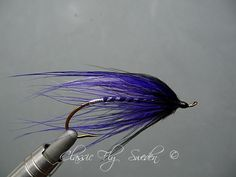 Purple Spey - posted in Steelhead & Salmon Tying: Here is another Spey fly from my vice and my own design, Purple spey