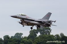Danish F-16 landing.  See the rest of my aviation images in full size by clicking on the thumbnail.  They are also available to buy in a variety for formats or as a digital download without the watermark. #riat