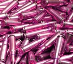 I've tipped my ammo for home defense in Hot Pink! I want them to know that they were shot by a girl and with a pink bullet too! Hot Pink, Pink Love, Pretty In Pink, Pink Guns, Just In Case, Just For You, Elephant Ears, Pink Camo, Purple Gun