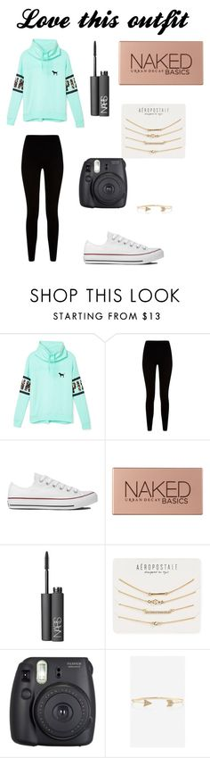"""I love this outfit"" by soccer-tumblr ❤ liked on Polyvore featuring Victoria's Secret PINK, Givenchy, Converse, Urban Decay, NARS Cosmetics, Aéropostale, Fuji and Express"