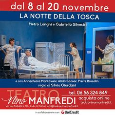 Claudia Grohovaz: LA NOTTE DELLA TOSCA - dal 8 al 20 novembre al Tea...