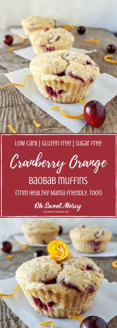 Cranberry Orange baobob muffins - S