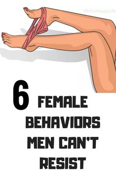 6 FEMALE BEHAVIORS MEN CAN'T RESIST Woman is the most amazing gift a man can have. She cares about you, she loves and she also annoys you the most. There are many habits a woman has that are really… Health And Nutrition, Health Tips, Health And Wellness, Health Care, Health Fitness, Fitness Diet, Marriage Couple, Alternative Medicine, Alternative Health
