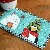 Winter Home Mug Rug - via @Craftsy