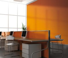 Acoustic Panel by pinta acoustic #architonic #nowonarchitonic #interior #design #furniture #acoustic #wall #panel #orange